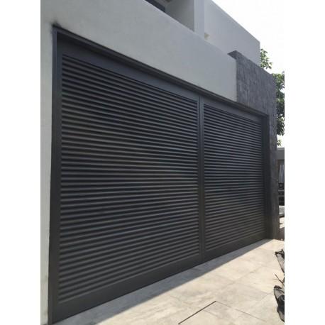 Puerta de garaje dise o louvers mecanismo abatible my store - Mecanismo puerta garaje ...
